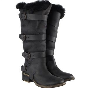 All Saints Italus Shearling Boots